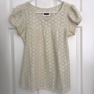 Cotton Blouse with Eyelet Embroidery
